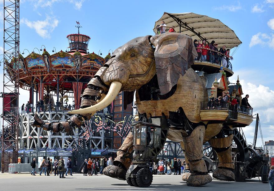 Grand Eléphant. Les Machines de l'île. Nantes © Jean-Dominique Billaud / LVAN
